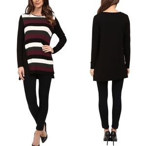 NWT Vince Camuto Long Sleeve Stripe Tunic Top M